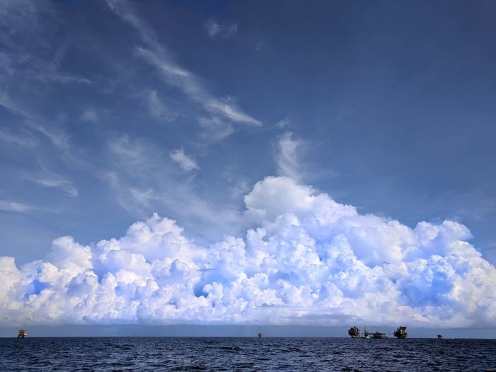 The grand clouding on the vast Sea Clouds And Sky Landscape Sea Offshore Oil&gas