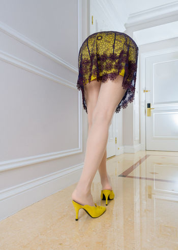 No photoshop,One shot,Self portrait Bikyaku Seijinn a.k.a. Beautiful legs Alien Alien Fashion Adult Alien Bikyaku Body Part Fashion Flooring High Heels Home Interior Human Body Part Human Leg Indoors  Legs Legs_only Lifestyles Low Section One Person Real People Shoe Standing White Color Women Yellow