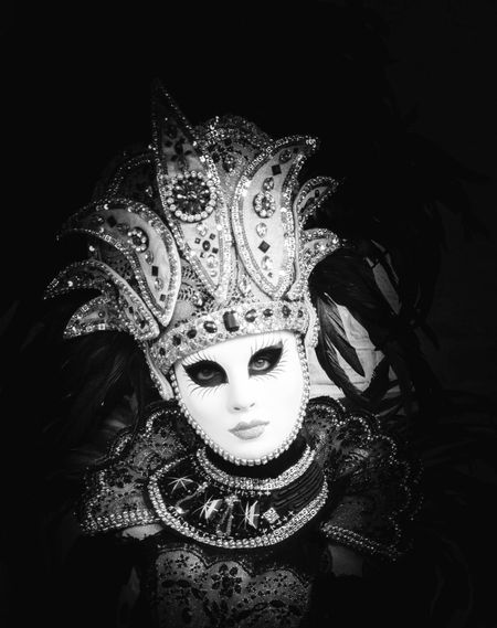 Venetian Mask Costume Carnival Adults Only Fine Art Photography PortraitVenice Carnival Black & White Illuminated Eyeemphotography EyeEm Masterclass Contrast Monochrome Photography Mystery Monocrome Photography EyeEm Gallery Exceptional Photographs Black And White One Person Atmosphere Venice Mask EyeEm Best Shots Carnival Crowds And Details
