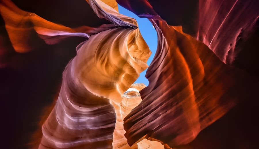 Antelope canyon - abstract background. travel and nature concept.