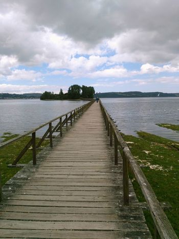 Azúcar,chiloe Water Cloud - Sky Pier Sea Outdoors Tranquility Wood - Material