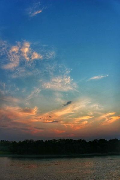 Sky Sunset No People Nature Landscape Danube Photography