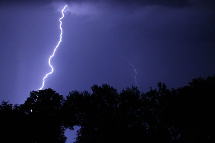 Low angle view of lightning in sky