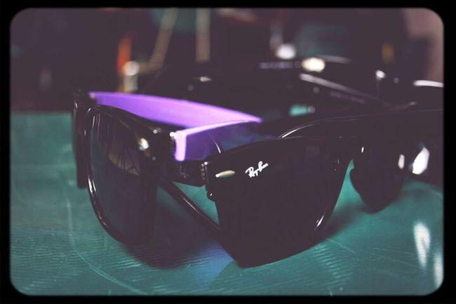 Glass Glasses Sunglasses Shades Black Purple Rays Rayban Stunna Shades!¡! Wayfer