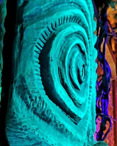 In the Tiki room. Tiki Bar Tikii Close-up Spiral Staircase ArtWork Abstract Backgrounds Color Gradient Textured  Spiral Spiral Stairs Turquoise Colored