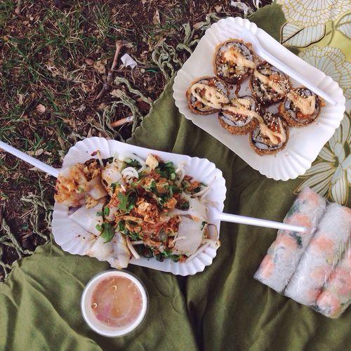 Thai Food Picnic Summer Rolls Exotic Foods