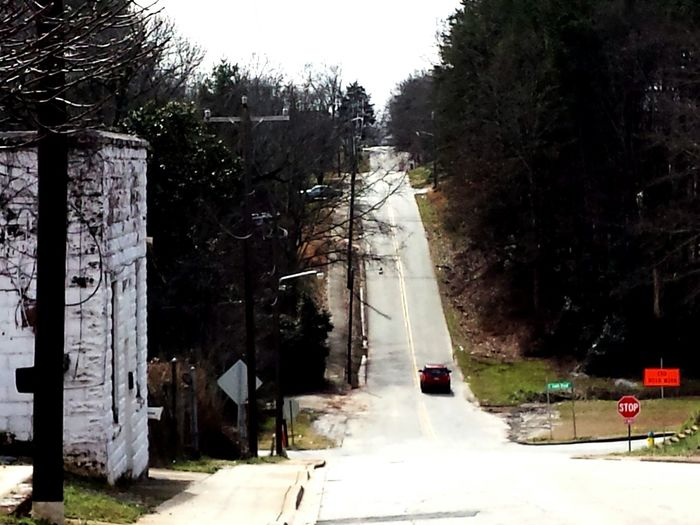 Road Old Building  Mill Hill Trees View From Main Street Walhalla South Carolina