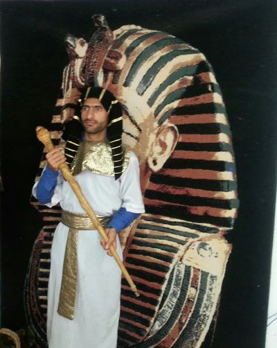 me in Egypt wd ancient clothes