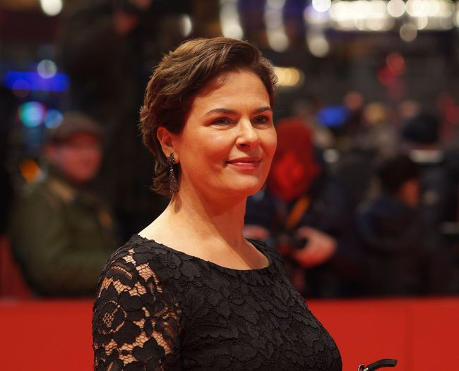 Berlin, Germany - February 17, 2018: German actress Barbara Auer attends the premiere of the film ´Transit´during the 68th Berlinale Film Festival 2018 Artist Fame Famous Film Festival Interview Photocall Press The Media Arts Culture And Entertainment Berlinale Berlinale 2018 Berlinale2018 Entertainment Entertainment Event Film Industry Gala Mass Media Popular Posing Press Conference Red Carpet Red Carpet Event