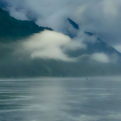 Most beautiful clouds cruising Alaska on the way back to Canada Trees Trees And Sky Mountains Waterscape Water Tranquility Nature Photography Nature EyeEm Nature Lover Boat Travel Beauty In Nature Beauty Of Nature Landscape Landscape_photography Clouds And Sky Sky