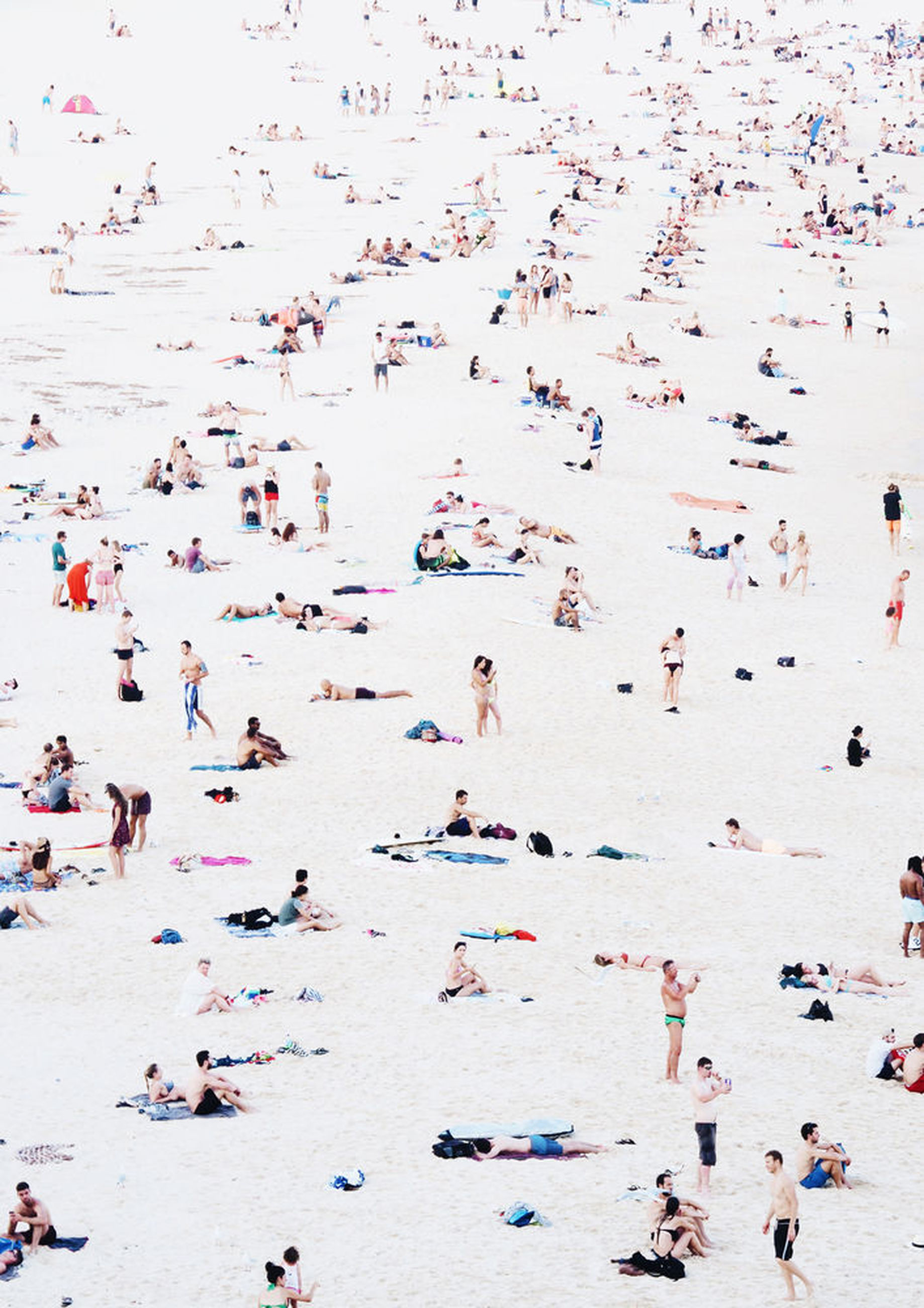 large group of people, real people, beach, leisure activity, men, vacations, day, enjoyment, sand, lifestyles, crowd, outdoors, high angle view, fun, summer, travel destinations, women, nature, water, people, adult, adults only