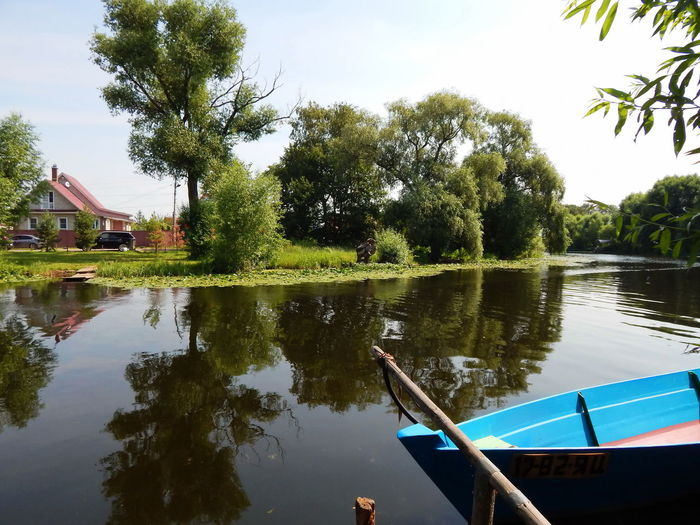 At the river in Pereslavl'-Zalessky, Russia Beauty In Nature Bpat Day Daydreaming Grass Lake Nature Nautical Vessel No People Outdoors Pereslavl-Zalessky Reflection River Sky Small Town Summertime Tree Village Water