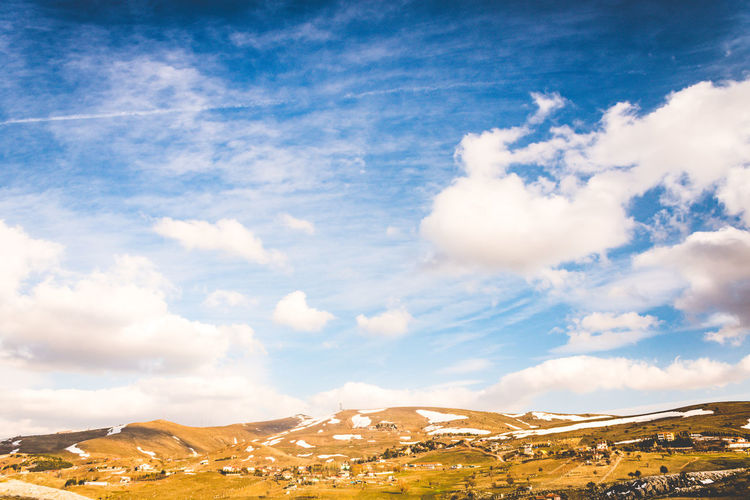 Cloud - Sky Sky Scenics - Nature Beauty In Nature Tranquil Scene Mountain Environment Tranquility Landscape Non-urban Scene Nature Day No People Idyllic Land Mountain Range Outdoors Blue Sunlight Remote
