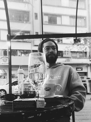 Water man People Glass Coffee Time Coffee Break Blackandwhite Blackpower Man