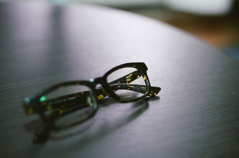 Close-up view of eyeglasses