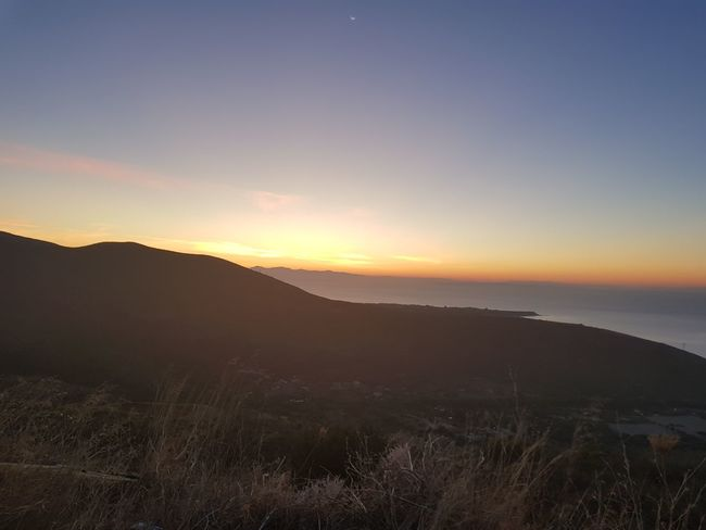 Sunrise Kefalonia, Greece Silhouette Landscape Beauty In Nature Scenics Nature Mountain Outdoors Sky No People Travel Destinations Grass Dawn Tree Astronomy Day