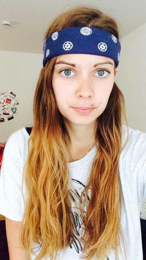 Girl Hair Ombre Bandana Fashion Style Twloha Selfie ✌ Eyes That's Me