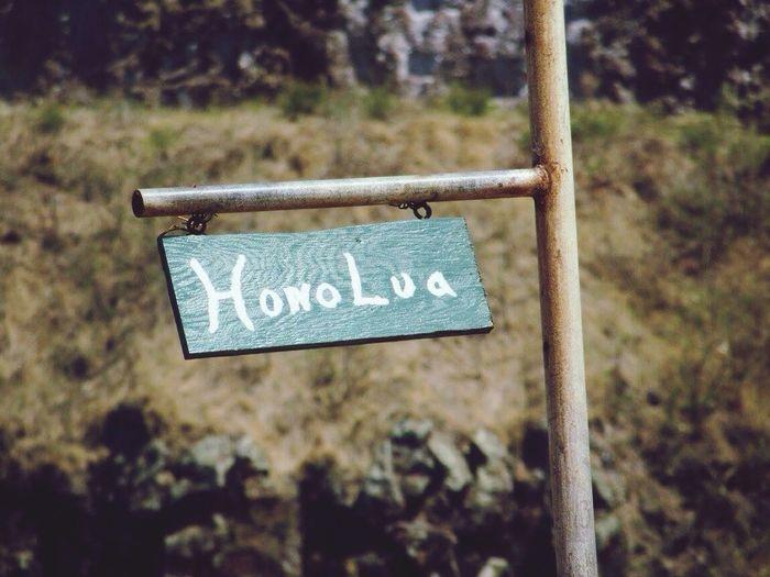 Honolulu, Hawaii Sign Hono Lua