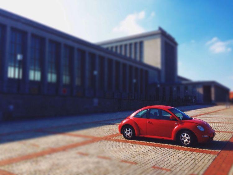 Deutschland. Dein Tag Red Car Street Photography Depth Of Field