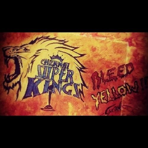 Its☺ Tym💃 To  Bleed💛 Yellow💛 Msd💛 Whistlepudu😛 7 Ipl India