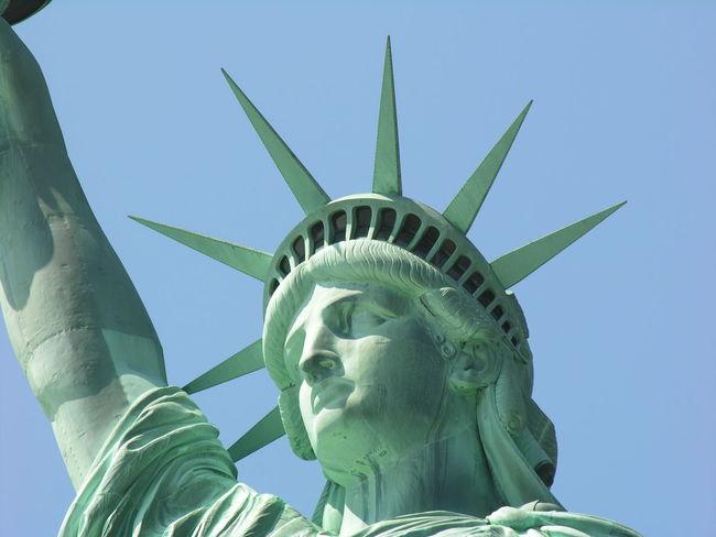 Statue of Liberty Green Close-up Lady Liberty Monument Statue Of Liberty Statue Freedom New York Tourism
