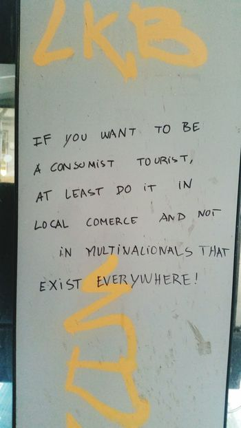 Good point. Tourists