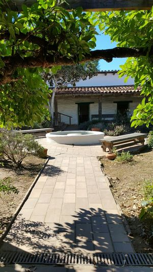 Architecture_collection Ranch Hacienda Beautiful Old California Old Town San Diego Trees Path Fountain Courtyard  Beautiful