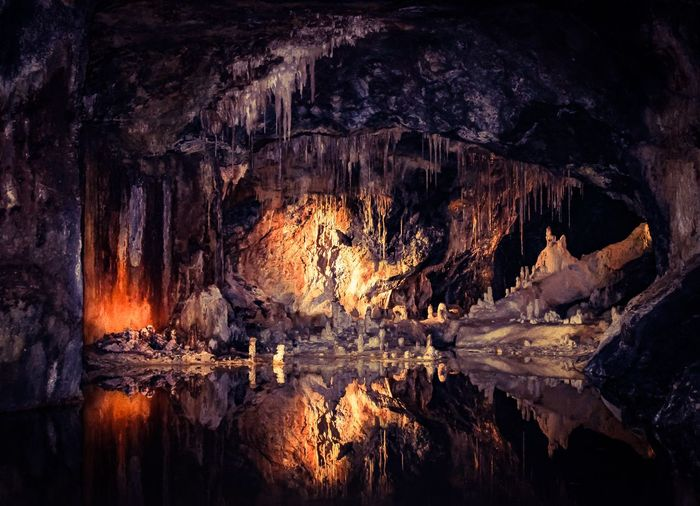 Reflection Nature Rock Formation Rock - Object Cave No People EyeEmNewHere Tranquility Stalactite  Beauty In Nature Water Tranquil Scene