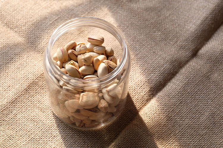 Close up of pistachios, healthy eating