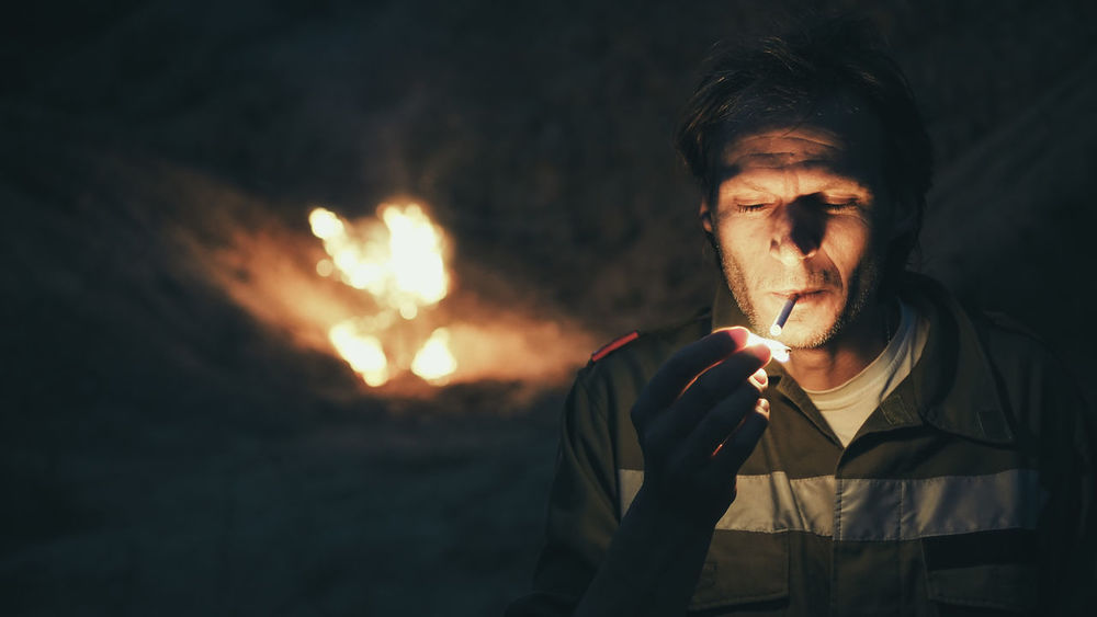 90 Degrees Burning Burning Cigarette  Cinematic Photography Composition Evil Film Look Fire Fire - Natural Phenomenon Fireman Firemanatwork Flat Glowing HERO Light A Matchstick Mysterious Night Portrait Photography Serious Set Fire Story Storytelling Vintage First Eyeem Photo
