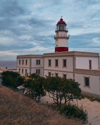 View of lighthouse against building