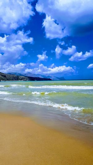 Water Sea Beach Sand Summer Wave Blue Low Tide Sky Horizon Over Water