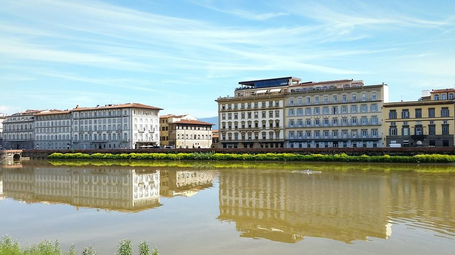 EyeEm Selects Florence Florence Italy Italy Reflection Reflections Street Atmosphere Landscape Multi Colored Architecture Travel City Travel Destinations Travel Photography Sky River Riverside Tuscany Arts Culture And Entertainment