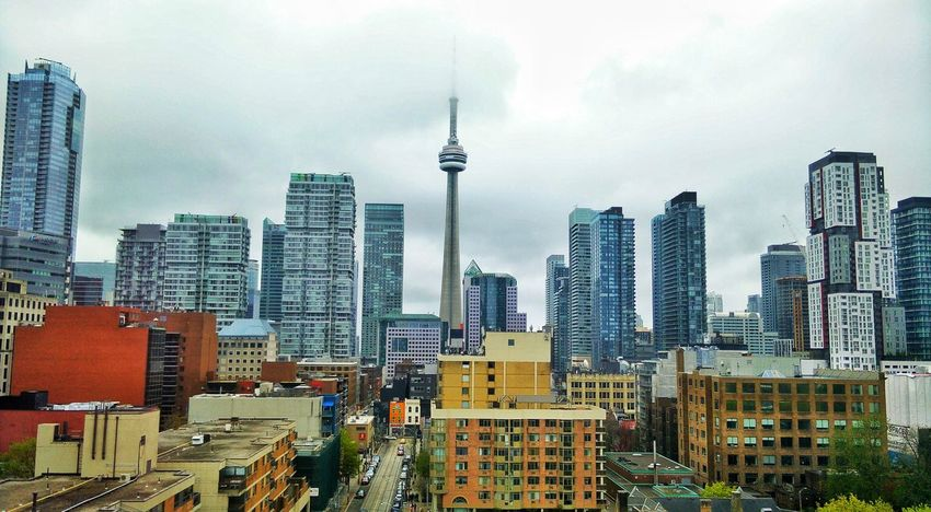TO Skyscraper City Architecture Urban Skyline Downtown District City Life Built Structure Cityscape Canada Toronto Cntower Aerial View View From The Top Skyline Modern Tower Building Exterior Travel Destinations Sky Communication Outdoors No People Day First Eyeem Photo