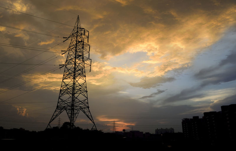#sky #clouds  Sky Cloud - Sky Built Structure Architecture Technology Sunset Low Angle View Electricity  Connection Electricity Pylon Silhouette Fuel And Power Generation No People Nature Power Supply Power Line  Tall - High Cable Tower Outdoors Global Communications Electrical Equipment Building Exterior