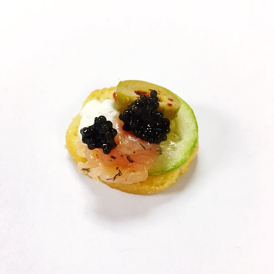 Thank you for thr first caviar cracker na krab P'Tuk Food Food And Drink White Background Ready-to-eat Studio Shot Indulgence Freshness Sweet Food Temptation Dessert No People Close-up Healthy Eating Indoors  Day Caviar Cracker