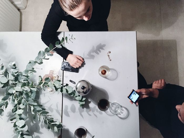 Women in black WomeninBusiness Girls Discussion Coffee Phone Important Hard Work From Above  Womenoftheday Black Polo