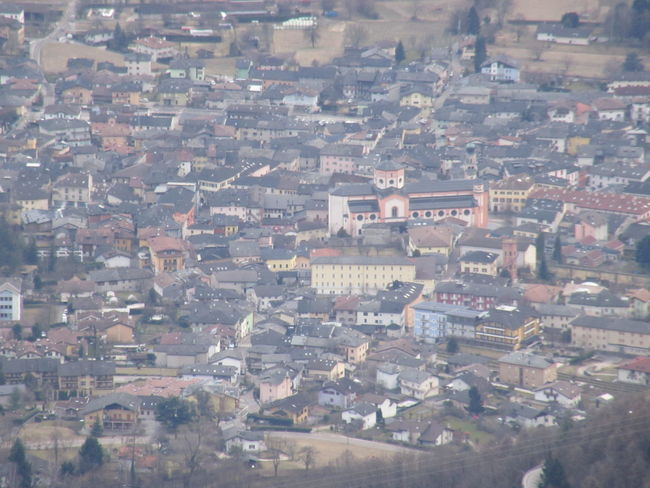 Levico Terme vista da Vetriolo, marzo 2017 Aerial View Architecture Building Exterior Day Landscape Outdoors Residential Building View From Above