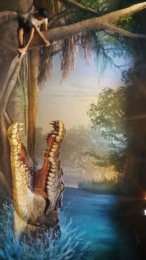 S6photography Mobilephotography Mobile Photography Optical Illusion Thailand 3D Art Museum Chiang Mai | Thailand Art In Paradise Musuem 3-D Art Giant Crocodile Sitting On A Branch