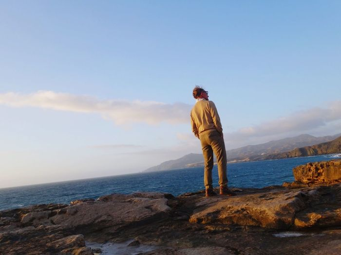 my Father on the edge of Cliffs Capturing Freedom
