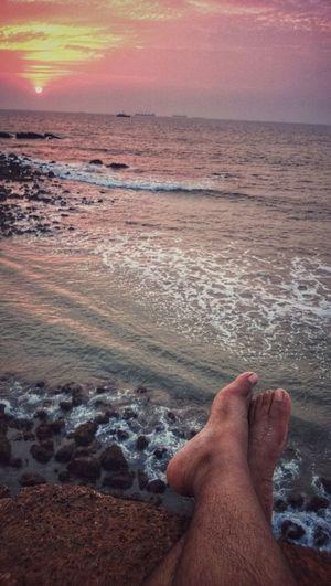 Things I Like Sunsets Goa Traveler Peaceful Place Sea And Sky Bestfeelingintheworld