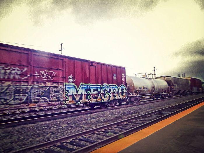 Union Station Little Rock,AR Aug 2014 Railart Mecro Graffiti