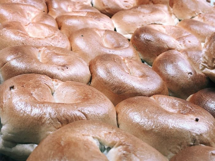 Bagels Bagels Bagels Deli Delicious Bagels Full Frame Backgrounds Freshness Food And Drink High Angle View Close-up Food Still Life No People Abundance Healthy Eating
