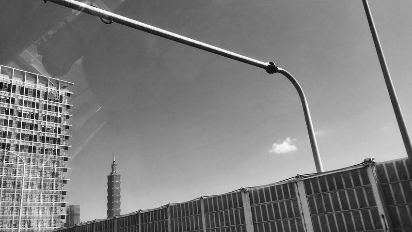 Outdoors No People City Taipei 101 Sky Monochrome Photography Blackandwhite
