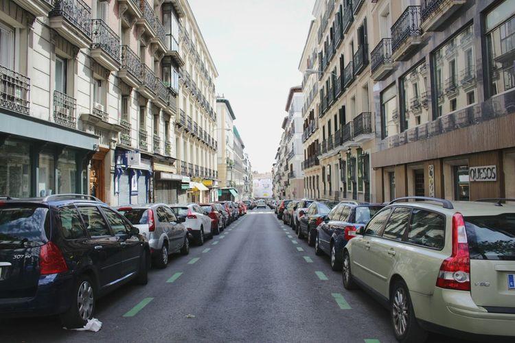 Cars Madrid Street Sky Photography Town City