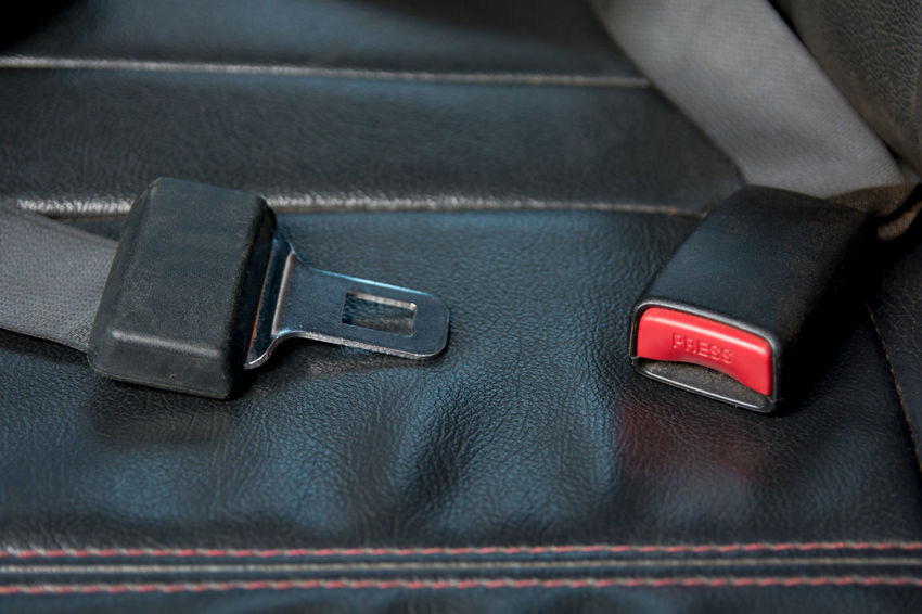 Car seat belt on The passenger seat in car. Safely on car Automobile Button Car Seat Driver Passenger Seat Press Safety First! Transportation Belt  Car Car Interior Drive Land Vehicle Mode Of Transportation Motor Vehicle Safety Safety Car Seatbelt Security Transportation Vehicle Interior