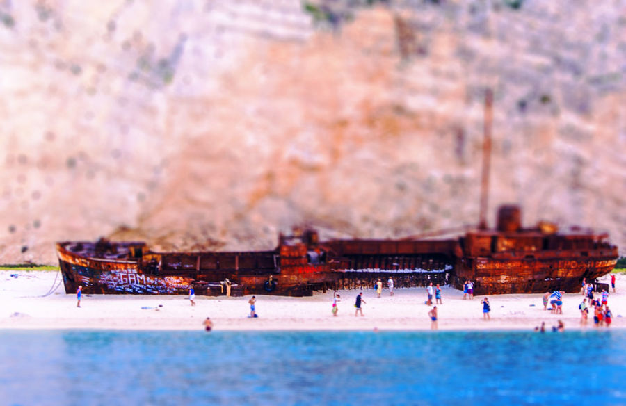 Shipwreck Beach, Zakynthos, Greece Adult Adults Only Adventure Beach Beauty In Nature Day Greece Green Color Ice Rink Ionian Coast Ionian Islands Large Group Of People Leisure Activity Nature Outdoors People Real People Shipwreck Beach Sport Water Winter