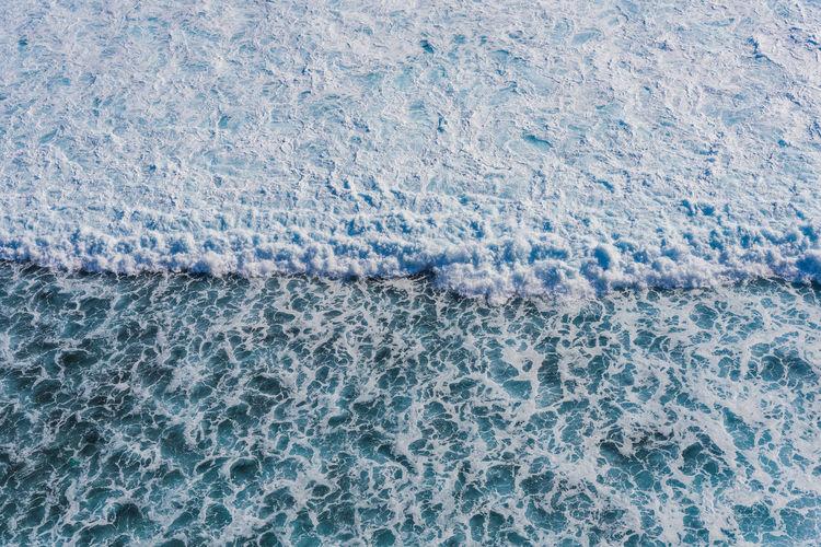 Full Frame Shot Of Water At Sea