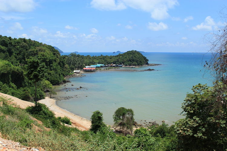 Sea Krom Luang Chumphon Khet Udomsak Beach Beauty In Nature Cloud - Sky Day Growth Horizon Horizon Over Water Idyllic Land Nature No People Outdoors Plant Scenics - Nature Sea Sky Tranquil Scene Tranquility Tree Water