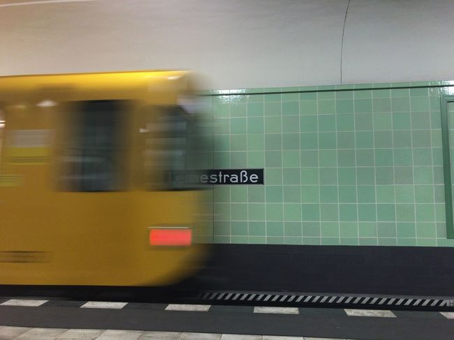 Blurred Motion Transportation Yellow Train - Vehicle Subway Station EyeEm Best Shots EyeEm Gallery Berlin